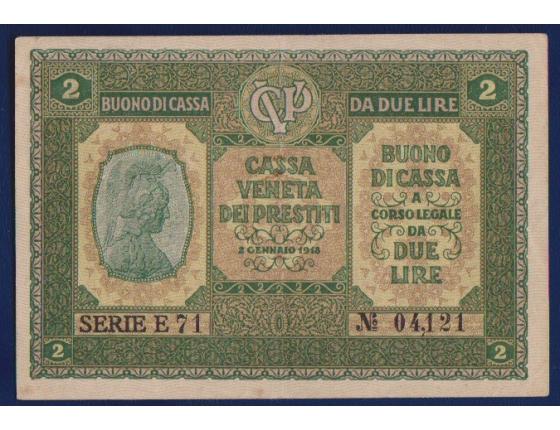 Bankovka: Itálie - 1 lira 1918 Cassa Veneta