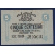 Bankovka: Itálie - 5 Centesimi 1918 Cassa Veneta