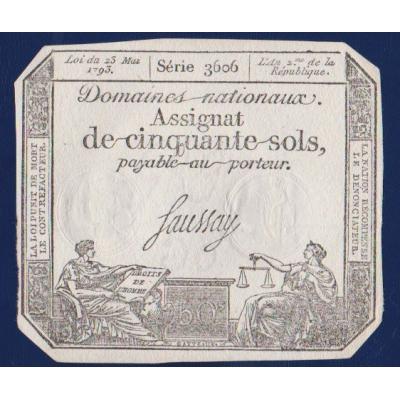 Bankovka: Francie - 50 Sols 1793