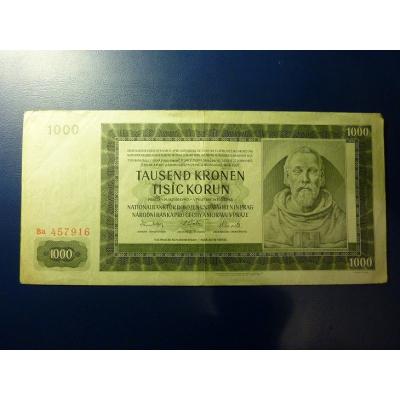 1000 korun 1942 Ba