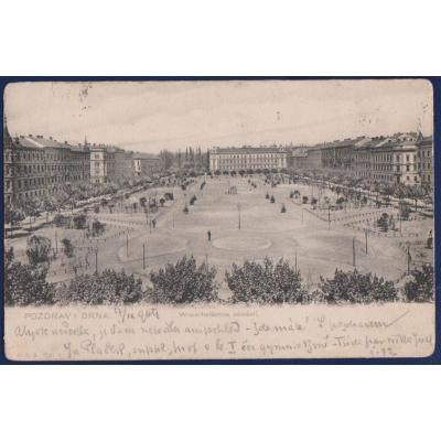 Postkarte: Österreich-Ungarn - Brno, WINTERHOLLEROVO SQUARE 1904
