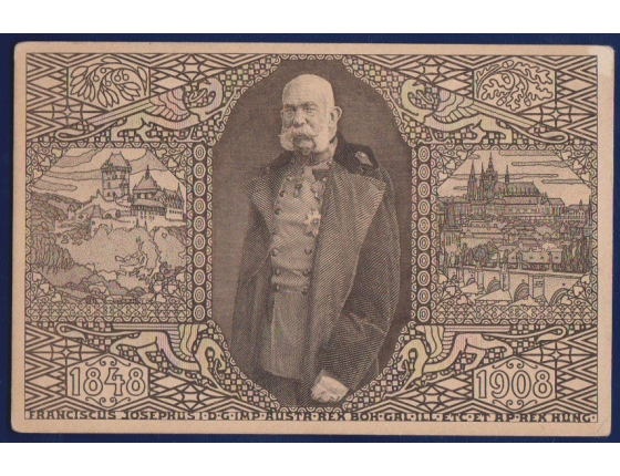 Pohlednice: Rakousko-Uhesrko - Jubilejní výstava 1908