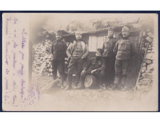 Pohlednice: 1. světová válka: Čeští vojáci ve válce 1916