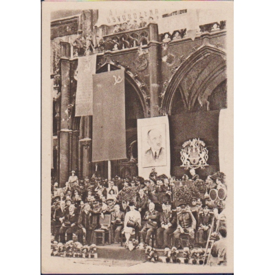 Czechoslovakia - postcard Speech government at Old Town Square in 1945