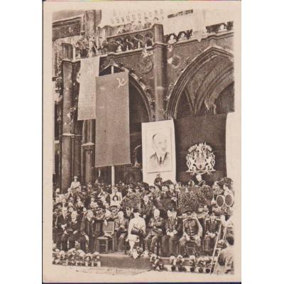 Tschechoslowakei - Postkarte Speech Regierung auf dem Altstädter Ring in 1945