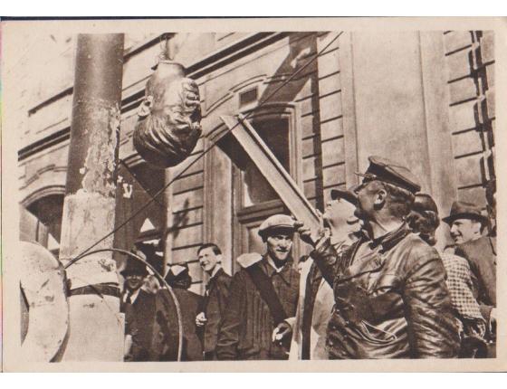 """Československo - pohlednice Jeho """"den"""" přišel! 1945"""