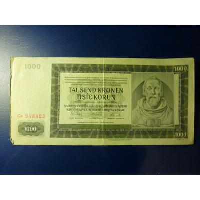 1000 korun 1942 Ca