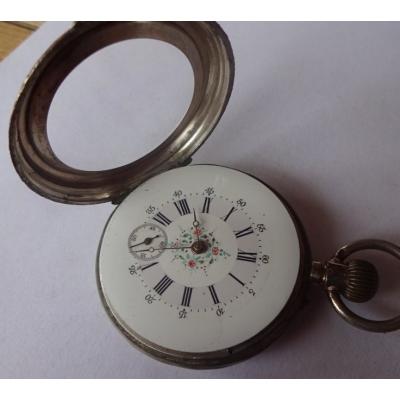 REMONTOIR - starožitné kapesní dámské stříbrné hodinky, funkční