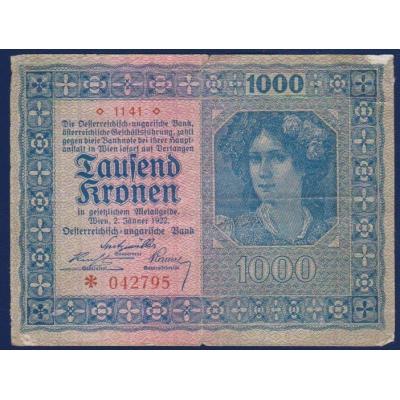 Rakousko - 1000 korun 1922