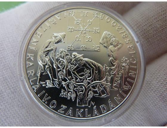 Česká republika- 200 Korun 2008: 650. VÝROČÍ VYDÁNÍ NAŘÍZENÍ KARLA IV. O ZAKLÁDÁNÍ VINIC b.k.