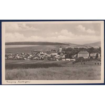 SUDETY - pohlednice Poběžovice, Ronšperk (Ronsperg), sudetská Župa (Sudetengau)
