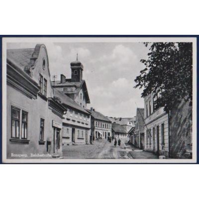 Tschechoslowakei - Postkarte Pobezovice, Ronsperk (Ronsperg, Sudetengaues)