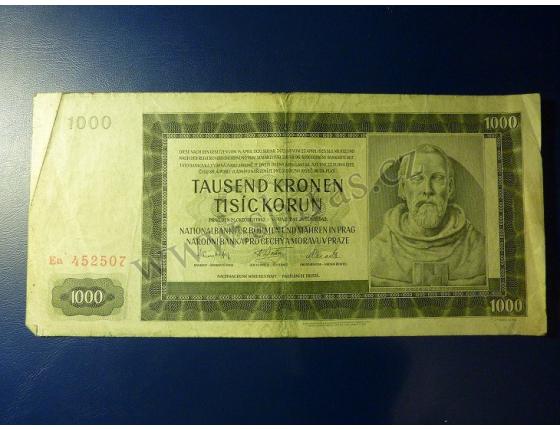 1000 korun 1942, II. vydání, série Ea