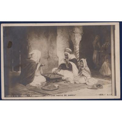 Africa - postcard SALON E. GIRARDET: Une partie de dames 1903