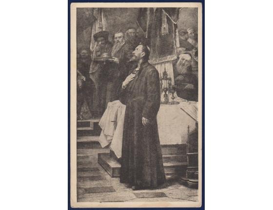 Československo - pohlednice Jan Hus 1923