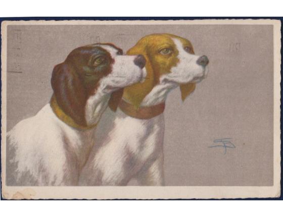 Itálie - pohlednice Psi 1928