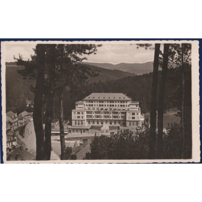ČECHY a MORAVA - pohlednice Lázně Luhačovice, Palace Hotel 1944