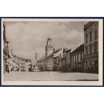 Tschechoslowakei - Postkarte Trebon-Platz