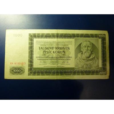 1000 korun 1942 Eb