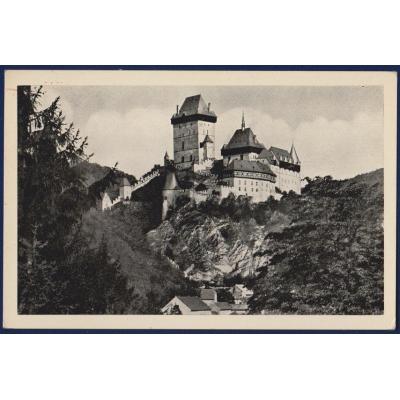 ČECHY a MORAVA - pohlednice Hrad Karlštejn 1943
