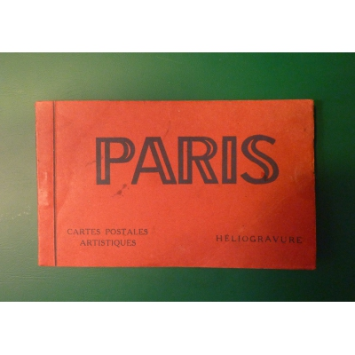France - Paris set of postcards, original binding, 20pc