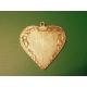Historický stříbrný přívěšek - srdce s monogramem ART DECO, stříbro 900/100