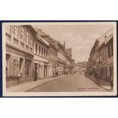 SUDETY - Česká Lípa, Töpferstrasse, tržiště (Böhmisch Leipa, Marktplatz)