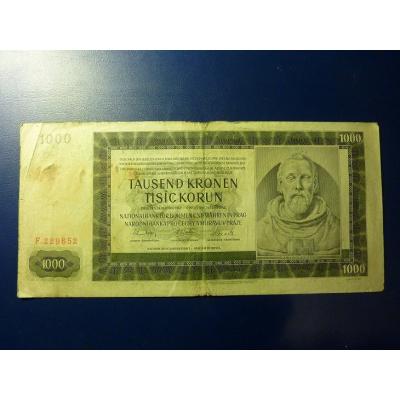 1000 korun 1942 F
