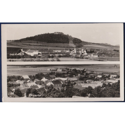 Československo - pohlednice Čáslavice-Sádek 1947