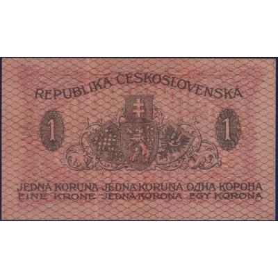 Československo - bankovka I. emise: 1 koruna 1919