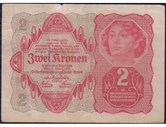 2 koruny 1922