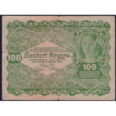 Austria - 100 crowns banknote 1922