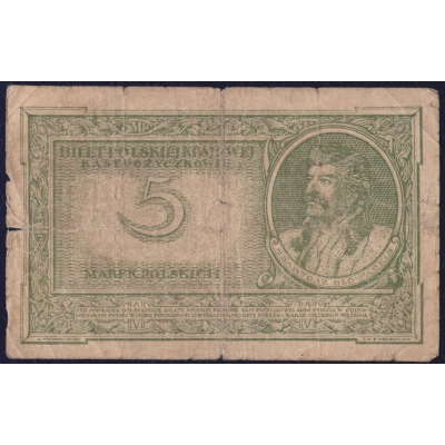 Poland - 5 marks banknote 1919