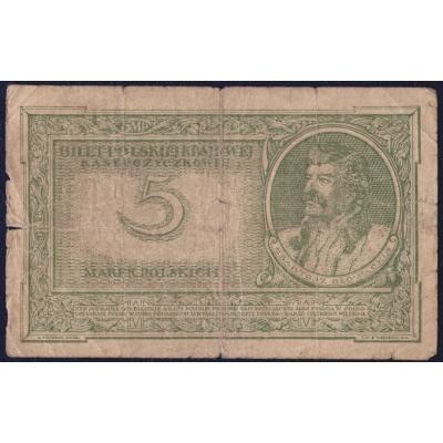 Polen - 5 Marken Banknote 1919