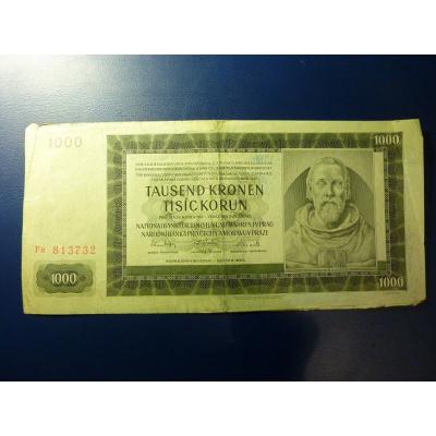 1000 korun 1942 Fa