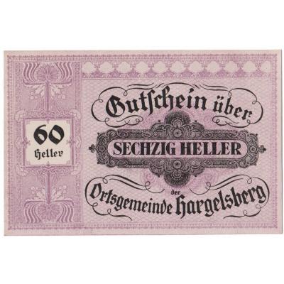 Österreich - Gutschein 60 Heller 1920 UNC