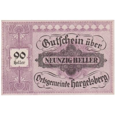Rakousko - Gutschein 90 haléřů 1920 UNC