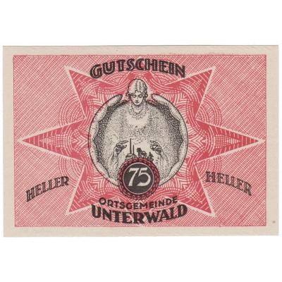 Austria - Gutschein 75 Heller 1920 UNC