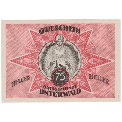 Österreich - Gutschein 75 Heller 1920 UNC