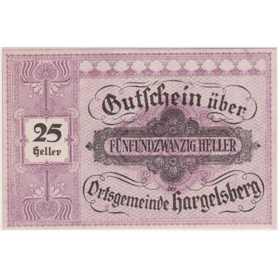 Rakousko - Gutschein 25 haléřů 1920 UNC
