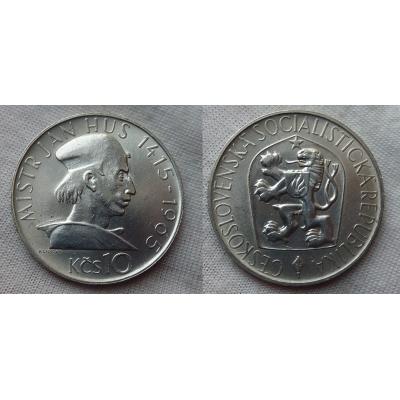 Czechoslovakia - coins 10 Crown 1965 - John Huss