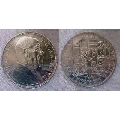 Czechoslovakia - 20 Crown, 1937, death of T. G. Masaryk