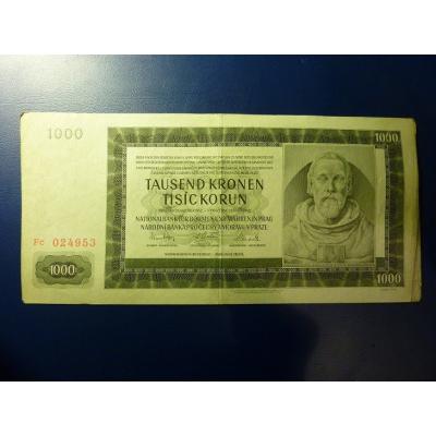 1000 korun 1942 Fc
