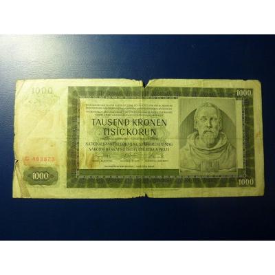 1000 korun 1942 G