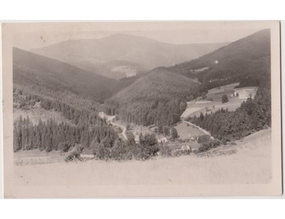 ČECHY a MORAVA - pohlednice Lysá Hora a údolí Mazák 1943