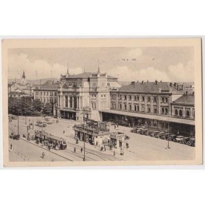 Československo - pohlednice Brno nádraží 1948