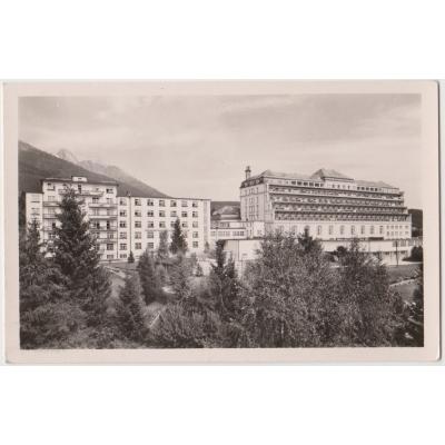 Československo - pohlednice Vysoké Tatry, Nový Smokovec - sanatoium ÚSP
