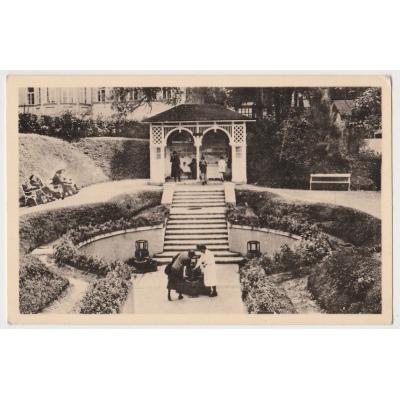 Československo - pohlednice Mariánské lázně, Ambrožův pramen 1948