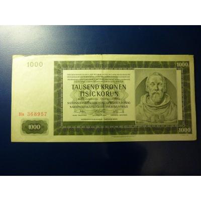1000 korun 1942 Ha