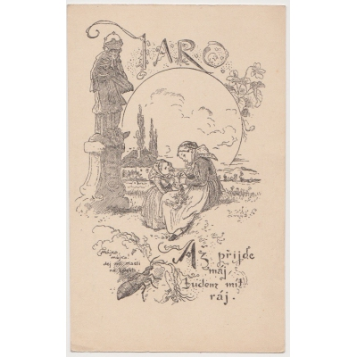 Mikolas Ales - Postkarte Jahr: März